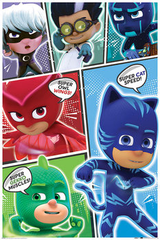 PJ Masks - Comic Strip Plakát