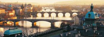 Prague - Pražské mosty Plakát