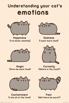 Pusheen - Cats Emotions Plakát