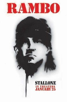 RAMBO 4 - spray paint Plakát
