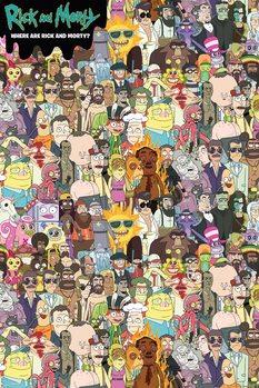 Rick and Morty - Where's Rick Plakát