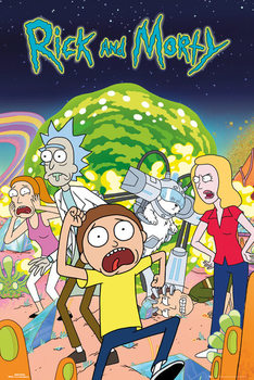 Rick & Morty - Group Plakát