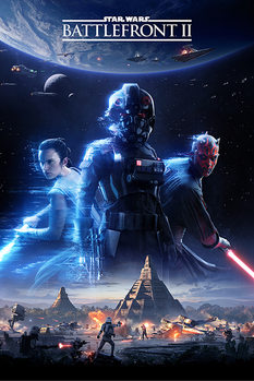 Star Wars Battlefront 2 - Game Cover Plakát