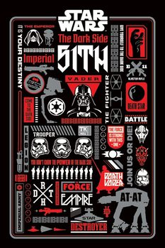 Star Wars -  Dark Side Icongraphic Plakát