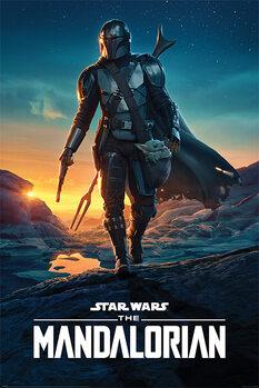 Plakát Star Wars: The Mandalorian - Nightfall