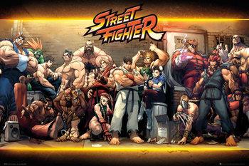 Street Fighter - Characters Plakát