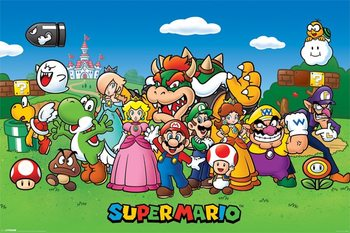 Super Mario - Characters plakát