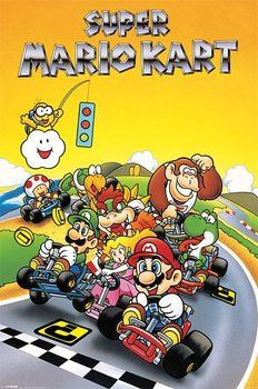 Super Mario Kart - Retro Plakát