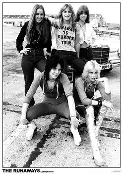Plakát The Runaways - London 1976