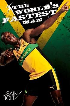 Usain Bolt - fastest man Plakát