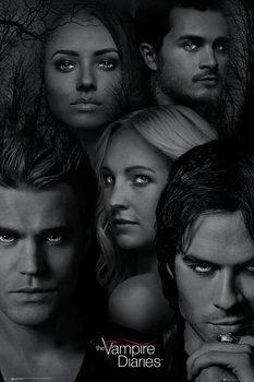 Vámpírnaplók - Faces Plakát