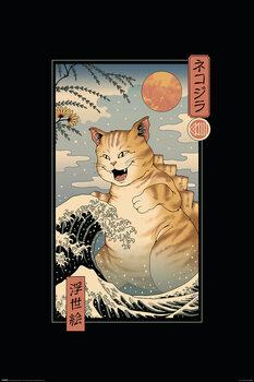 Plakát Vincent Trinidad - Catzilla Ukiyoe