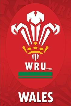 Wales R.U - crest Plakát