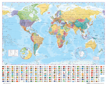 World map Plakát