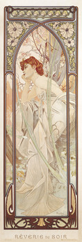 Plakát Alfons Mucha - evening dreams
