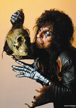 Plakát Alice Cooper - With Skull 1987