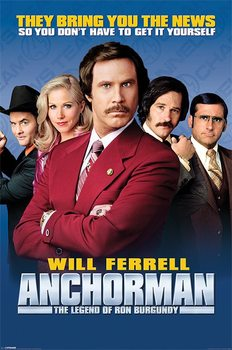 Plakat ANCHORMAN - cast