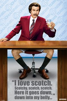 Plakat ANCHORMAN – scotch