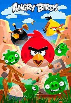 Angry birds - smash Plakat 3D Oprawiony