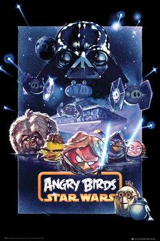 Plakat Angry birds Star Wars - battle