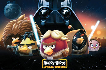 Plakat Angry birds Star Wars - space
