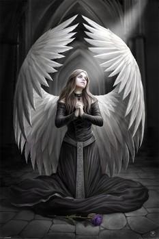 ANNE STOKES - prayer for the fallen plakát, obraz