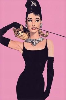 Plakát AUDREY HEPBURN - pink