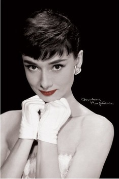 Plakát Audrey Hepburn - red lips
