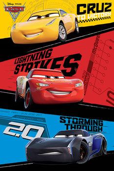 Plakát Auta 3 - Trio