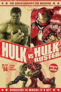 Avengers: Age Of Ultron - Hulk Vs Hulkbuster plakát, obraz