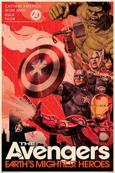 Plakát Avengers - Golden Age Hero Propaganda