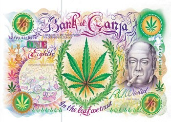 Plakat Bank of Ganja