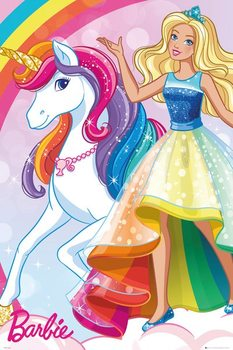 Plakat  Barbie - Unicorn