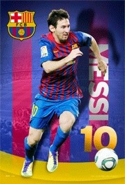 Barcelona - Messi 11/12 Plakat 3D Oprawiony
