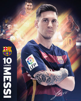 Plakát  Barcelona - Messi 15/16