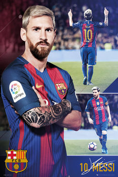 Plakát Barcelona - Messi collage 2017