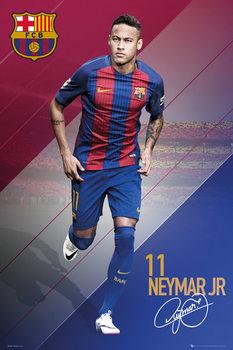 Plakat Barcelona - Neymar 16/17
