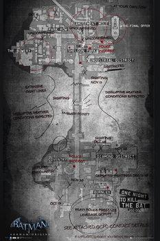 Plakát Batman Origins - herní mapa