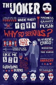 Plakát Batman: Temný rytíř - Joker Quotographic