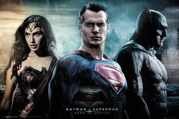 Plakát Batman vs. Superman: Úsvit spravedlnosti - City
