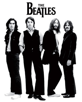 Plakat Beatles - white
