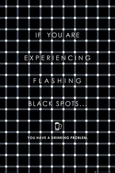 Plakát Black flashing dots - černé blikající tečky