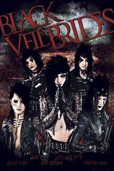 Plakát  Black veil brides Red