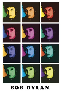 Plakat Bob Dylan – colours