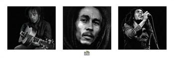 Plakát Bob Marley - 3 images (B&W)