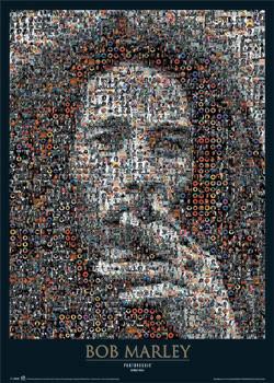 Plakat Bob Marley - photomosaic