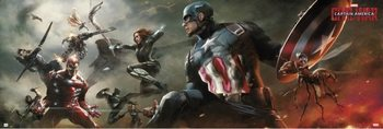 Plakat Captain America - Civil War