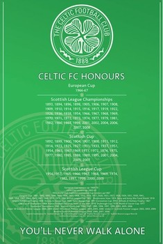 Plakat Celtic - honours
