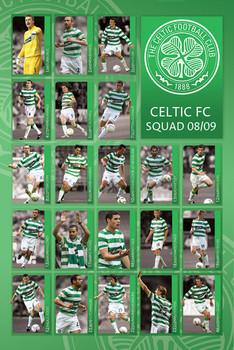 Plakat Celtic - squad 2008/2009