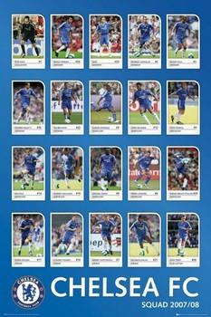 Plakát Chelsea - squad profiles 07/08